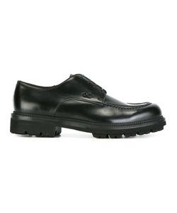Salvatore Ferragamo | Stitch Detail Derby Shoes 44 Calf