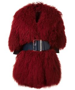 Christian Dada | Big Belt Buckled Coat Wool/Tibetan