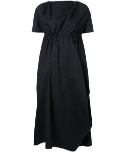 Assin | Draped Elasticated Mid Dress Large Cotton