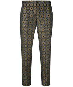 'S Max Mara | S Max Mara Geometric Pattern Cropped Trousers 42
