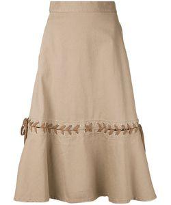 G.V.G.V. | Denim Lace-Up Skirt 34 Cotton