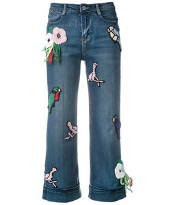 Michaela Buerger | Knitted Patches Cropped Jeans Size Small
