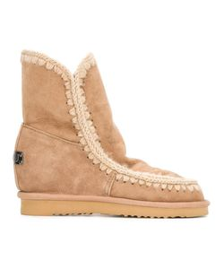 Mou | Eskimo Inner Wedge Boots 38 Sheep Skin/Shearling/Suede/Rubber