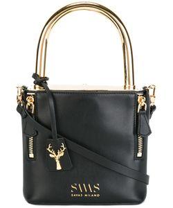 Savas | Top Handle Crossbody Bag Calf Leather/Metal