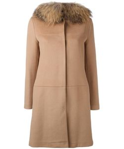 Ava Adore | Buttoned Mid Coat Virgin Wool/Cashmere/Raccoon