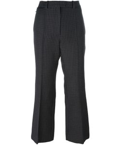 Nina Ricci | Checked Houndstooth Flared Trousers 38 Silk/Wool