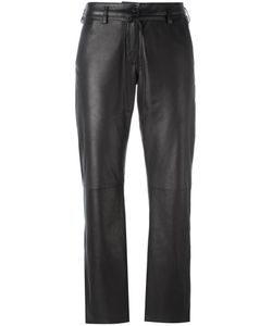 Ann Demeulemeester Blanche   Cropped Trousers 38 Cotton/Leather/Rayon