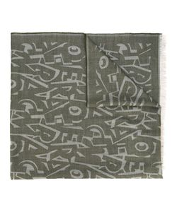 Salvatore Ferragamo | Graphic Ferragamo Lettering Scarf Wool/Cashmere/Silk