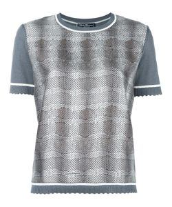 Salvatore Ferragamo | Striped Snake Effect Sweater Medium Silk/Cotton