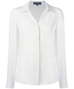 Salvatore Ferragamo | Concealed Spread Collar Shirt 42 Silk