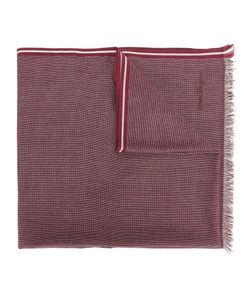 Salvatore Ferragamo | Patterned Striped Trim Scarf Cotton