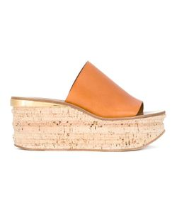Chloé | Camille Wedge Mules 37