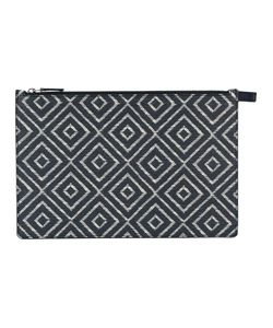 Salvatore Ferragamo | Chevron Detail Clutch Bag