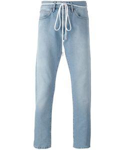 Off-White | Diagonal Spray Slim-Fit Jeans 33 Cotton/Polyester