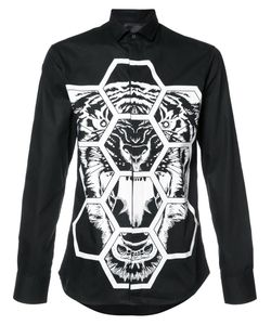 Philipp Plein | Tiger Print Shirt Medium Cotton