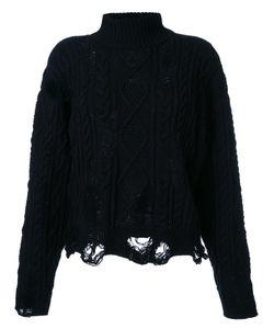 Mihara Yasuhiro | Miharayasuhiro Distressed Cable Knit Jumper 40 Acrylic/Wool
