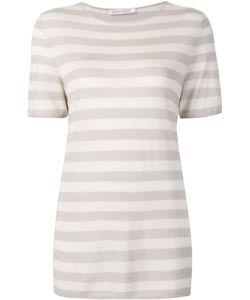 Denis Colomb | Short Sleeved Striped Sweatshirt Medium Cashmere/Silk
