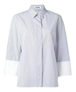 Jil Sander   Poplin Stripe Shirt 34 Cotton