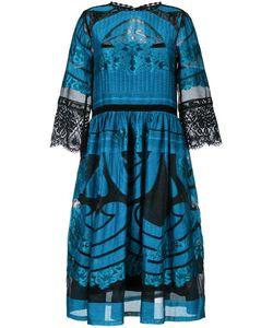 Alberta Ferretti | Sheer Detail Flared Dress