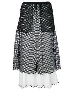 G.V.G.V.   G.V.G.V. Mesh Layered Ribbed Skirt