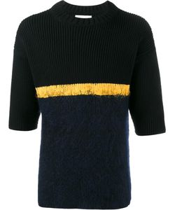 Helen Lawrence | Contrast Stripe Jumper Large Lambs Wool/Mohair/Wool/Polyamide