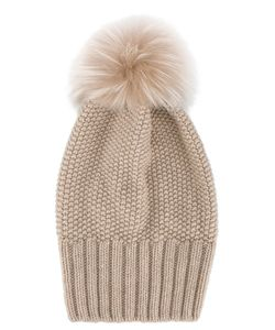 Inverni | Single Fur Pom Pom Beanie Women Fox