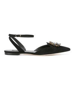 Dolce & Gabbana | Embellished Brooch Sandals 40