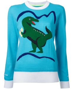Muveil   Dinosaur Intarsia Jumper 38 Wool