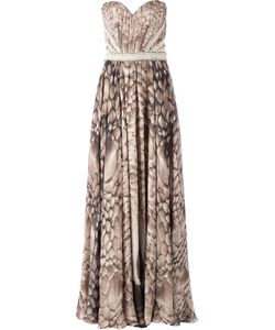 Kristian Aadnevik | Sweetheart Neckline Printed Strapless Dress