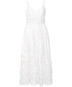 Prabal Gurung | Spaghetti Strap Eyelet Dress 4 Cotton/Polyester