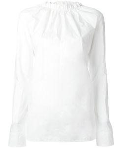 Marni   Ruffle Collar Poplin Top 40 Cotton
