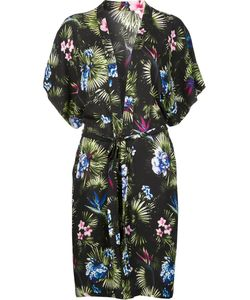Fleur Du Mal | Short Sleeve Robe Medium/Large Silk/Spandex/Elastane
