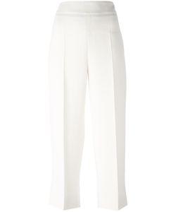 'S Max Mara | Straight Cropped Trousers 44 Spandex/Elastane/Acetate/Viscose