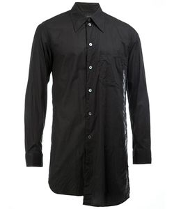 Ann Demeulemeester Grise | Long Panelled Shirt Medium Cotton