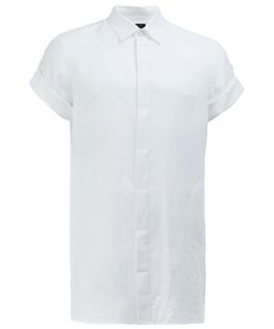 Ann Demeulemeester Grise | Short-Sleeve Shirt Large Cotton/Linen/Flax