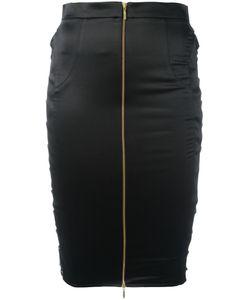 Murmur | Zip Up Pencil Skirt 36 Cotton/Polyester/Spandex/Elastane