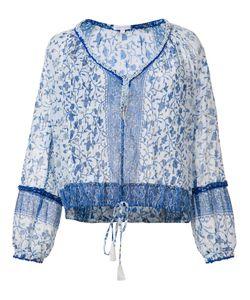 Poupette St Barth | V-Neck Blouse Large Cotton