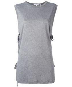 Helmut Lang | Lace-Up Laterals Sleeveless T-Shirt Medium Cotton/Cashmere