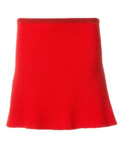 The Elder Statesman | Ribbed A-Line Knitted Skirt Small