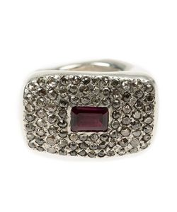 Rosa Maria | Falamank Diamond And Rhodolite Ring