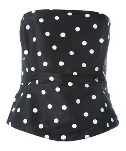 Gianfranco Ferre Vintage | Strapless Polka Dot Top