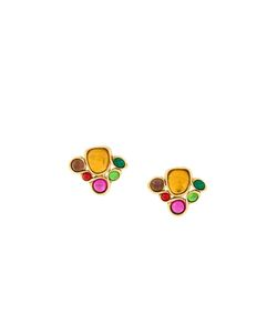 Emanuel Ungaro Vintage | Stone Embellished Clip-On Earrings