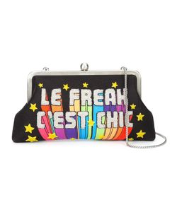 Sarah's Bag | Le Freak Cest Chic Embellished Clutch Brass/Microfibre