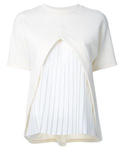 Taro Horiuchi | Pleated Front T-Shirt Acrylic/Wool/Nylon