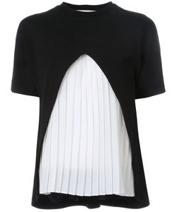 Taro Horiuchi | Pleated Front T-Shirt Acrylic/Wool/Nylon