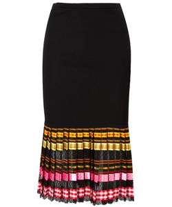 Christian Dior Vintage | Ribbed Pleated Skirt 36