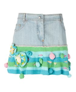 Christian Dior Vintage | Short Denim And Knit Skirt 36