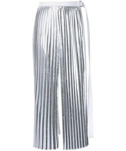 Taro Horiuchi | Slit Pleated Apron Skirt Polyester/Rayon/Polyethylene