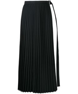 Taro Horiuchi | Slit Pleated Apron Skirt Wool/Polyester