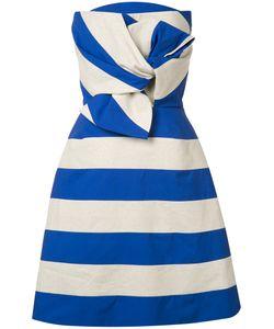 Delpozo | Striped Bow Dress 38